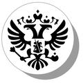 Фишки для нард из оргстекла Герб РФ 3
