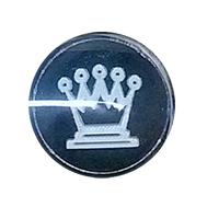 Фишки для нард из оргстекла в виде шахматных фигур