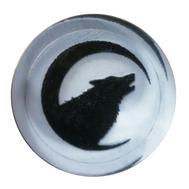 Фишки для нард из оргстекла Волк воет на луну