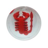 """Фишки для нард из оргстекла """"Черный ws красный скорпион"""" купить в интернет-магазине Нардлайн"""