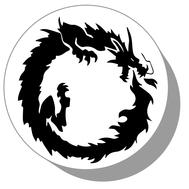 Фишки для нард из оргстекла Дракон #12