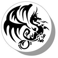 Фишки для нард из оргстекла Дракон #13