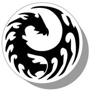Фишки для нард из оргстекла Драконы #20