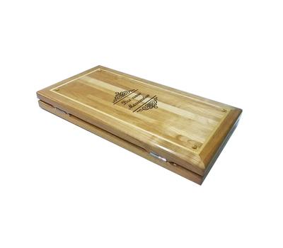 Нарды из вишни маркетри с подарочной гравировкой купить в интернет-магазине Нардлайн