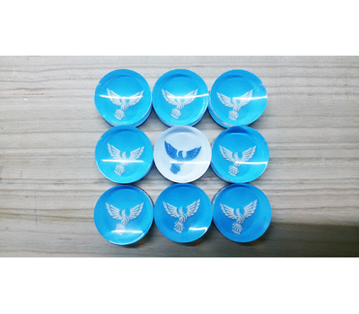"""Фишки для нард из оргстекла """"Птица счастья"""" купить в интернет-магазине Нардлайн"""