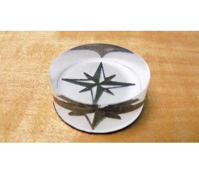 Фишки для нард из оргстекла черепки и звезда