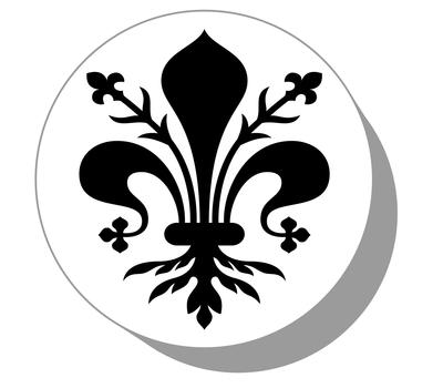 Фишки / шашки для нард из оргстекла герб Флорентийская лилия