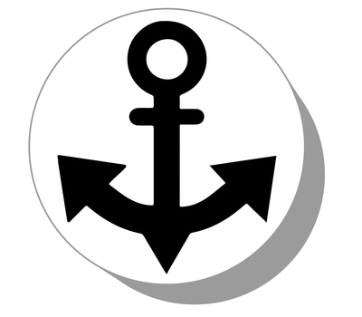 Фишки / шашки для нард из оргстекла Якорь #11
